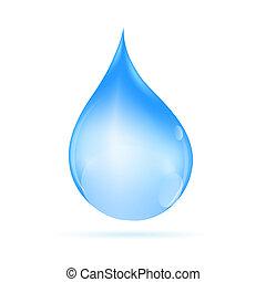 vetorial, gota, ilustração, água