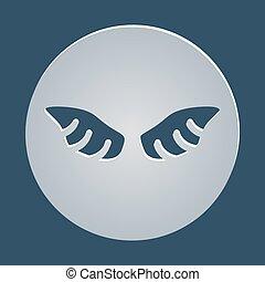 vetorial, gráfico, asas, elemento