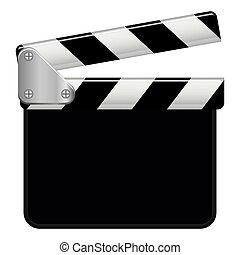 vetorial, gráfico, ilustração, copyspace, clapperboard
