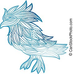 vetorial, gráfico, pássaro, illustration.