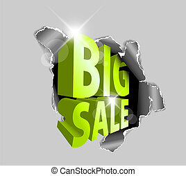 vetorial, grande, venda, desconto, anúncio