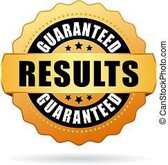 vetorial, guaranteed, resultados, selo ouro
