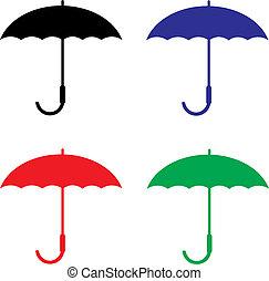 vetorial, guarda-chuva, proteção