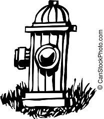 vetorial, hidrante