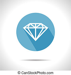 vetorial, icon., diamante, eps10