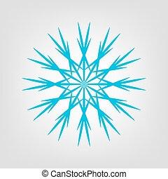 vetorial, icon., gráfico, snowflake