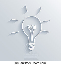 vetorial, idéia, experiência., eps10