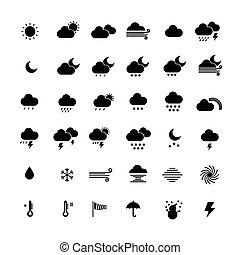 vetorial, illustration., ícones, cobrança, experiência., tempo, branca