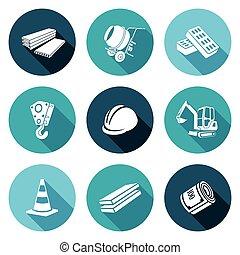 vetorial, illustration., ícones, set., equipamento,...