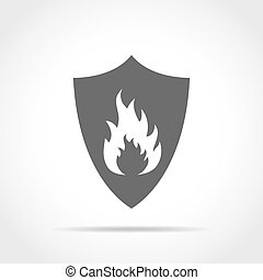 vetorial, illustration., fire., escudo