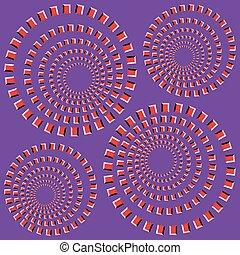 vetorial, -, ilusão, ótico