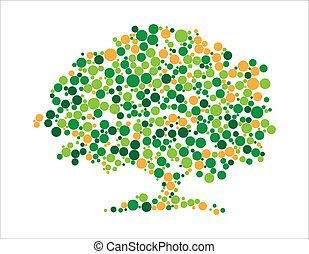 vetorial, ilustração, de, árvore