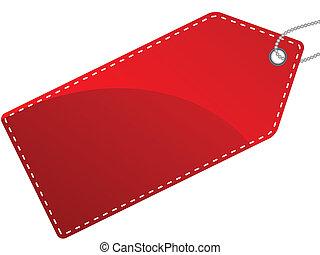 vetorial, ilustração, de, único, isolado, vermelho,...
