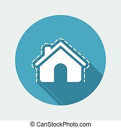 vetorial, ilustração, de, casa, proteção, único, isolado, ícone
