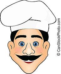 vetorial, ilustração, de, cozinheiro