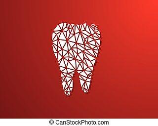 vetorial, ilustração, de, dental