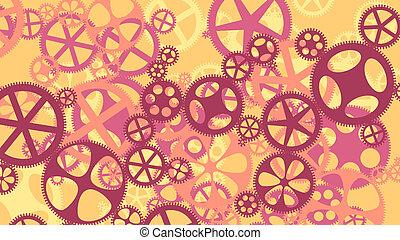 vetorial, ilustração, de, engrenagem, wheels.