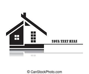 vetorial, ilustração, de, lar, branco, fundo
