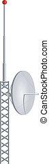vetorial, ilustração, de, móvel, antenas