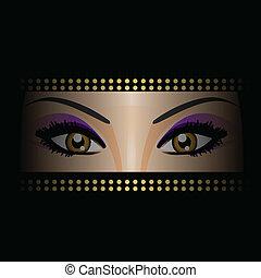vetorial, ilustração, de, olhos
