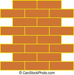 vetorial, ilustração, de, parede tijolo