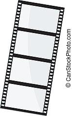 vetorial, ilustração, de, película, quadro