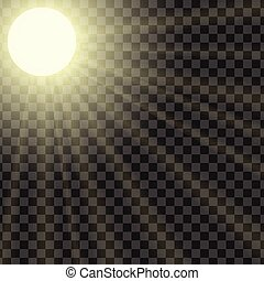 vetorial, ilustração, de, raios sol, com, a, capacidade, para, ajustar, saturação
