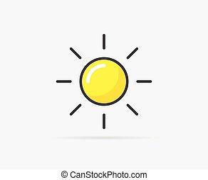 vetorial, ilustração, de, sol
