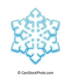 vetorial, ilustração, de, three-demention, snowflake