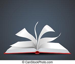 vetorial, ilustração, de, um livro aberto