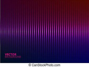 vetorial, ilustração, de, um, violeta, música, equalizador
