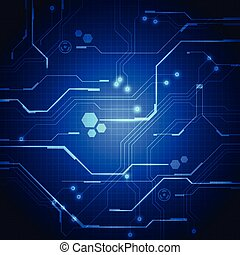 vetorial, ilustração, fundo, tábua, circuito, tecnologia