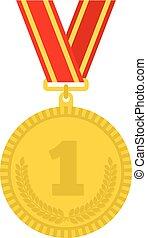 vetorial, ilustração, selo ouro