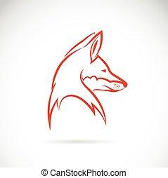 vetorial, imagem, de, um, cabeça raposa