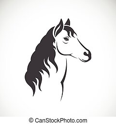 vetorial, imagem, de, um, cavalo
