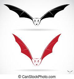 vetorial, imagem, de, um, morcego