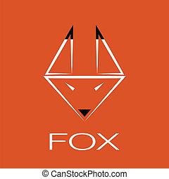 vetorial, imagem, de, um, raposa, desenho