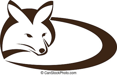 vetorial, imagem, de, um, raposa