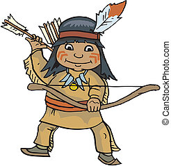 vetorial, indian americano