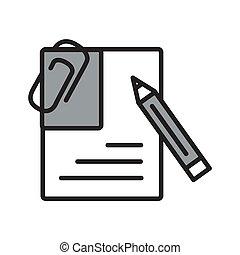 vetorial, internet, concept., illustration., botão, negócio, ícone, documento
