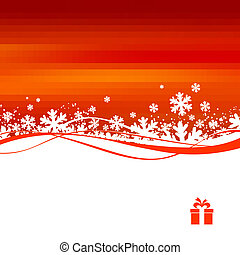 &, vetorial, inverno, ilustração, natal
