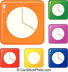 vetorial, jogo, ícones, mapa cor, infographic, círculo