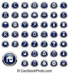 vetorial, jogo, ícones