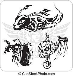 vetorial, jogo, -, bicicleta, símbolo.