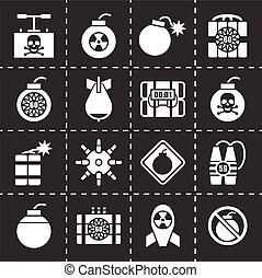 vetorial, jogo, bombardeie ícone