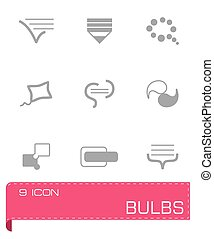 vetorial, jogo, bulds, ícone