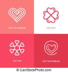 vetorial, jogo, de, logotipo, projete elementos, e, modelos