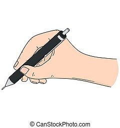 vetorial, jogo, de, passe escrito, com, lápis