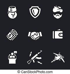 vetorial, jogo, de, peru, icons.