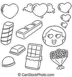 vetorial, jogo, dia, valentine